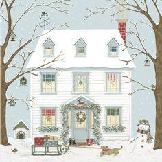 Christmas House Card Pack
