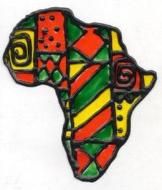 Do this with the symbols Kwanzaa.window cling