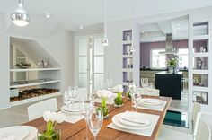 Stunning composition, love mauve accent in the kitchen!