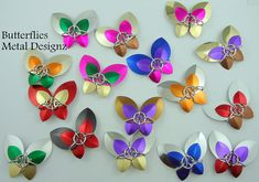 Chainmail Butterfly Key Chain kit - Make your own Butterflies.  Beginner Level kit