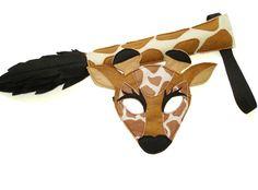 Children's Safari Animal GIRAFFE Felt Mask and by magicalattic