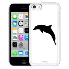 Apple iPhone 5C Silhouette Dolphin on White Case
