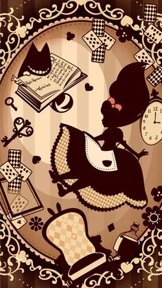 best ideas wallpaper disney phone alice in wonderland Adventures By Disney, Adventures In Wonderland, Cute Disney, Disney Art, Disney Wallpaper, Iphone Wallpaper, Film Manga, Alice In Wonderland Illustrations, Alice Madness Returns