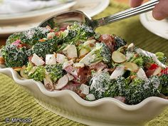 Broccoli Pepper Salad - This low-carb deli salad is full of creamy, crunchy, yumminess.