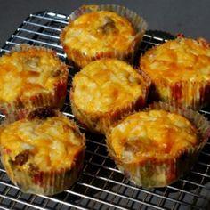 PALEO - Egg & Beef Fritata Muffins