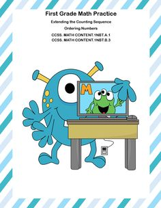 This collection of printable worksheets addresses Extending the Counting Sequence and Ordering Numbers. There are six pages of funny monster themed practice, an answer key, a brain break puzzle and a coloring page, for a total of 17 pages. Your students are asked to order numbers up to 100 and identify larger, smaller, and equal numbers. Print and go for a complete review on these two common core state standards. Aligned with: CCSS. MATH CONTENT.1NBT.A.1 CCSS. MATH CONTENT.1NBT.B.3