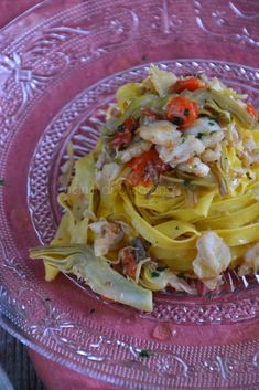 La Cucina di Stagione: Tagliatelle con carciofi, baccalà e pomodorini