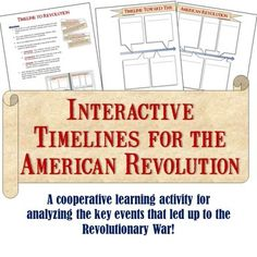 Road To The Revolution Illustrated Timeline Project  Timeline