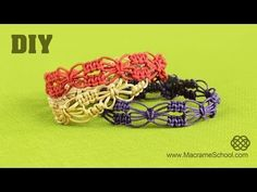 DIY Easy Square Knot Flower Bracelets - YouTube