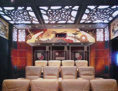 Art Deco home theatre. @designerwallace