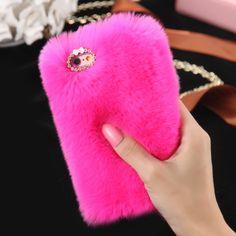 D'Luxe Fur Phone Case (Magenta) - iPhone 5/5s/5se
