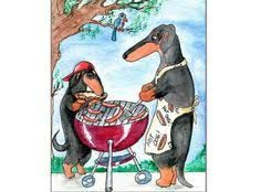 Image result for terry pond dachshund art