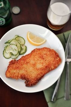 Hungarian Wienerschnitzel...i can't even begin to tell you how much i like this...salty, crunchy, yummy.  maybe, because the last time i ate it was in a park in switzerland with a 32 oz. beer.