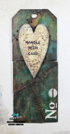 Handle With Care Tag - Love the deconstructed background