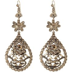 Alberta Ferretti Embellished Chandelier Earrings (239 AUD) ❤ liked on Polyvore featuring jewelry, earrings, gold, sparkly earrings, gold tone earrings, chandelier jewelry, sparkle jewelry und gold tone chandelier earrings