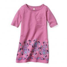 Kantha Paisley T-Shirt Dress for Girls | Tea Collection