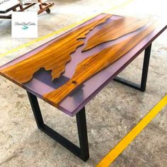 Looking for something new and bold, well your search is over! Wood Table, Dining Table, Resin Furniture, American Walnut, Room Decor, Search, Stuff To Buy, Home, Projects To Try