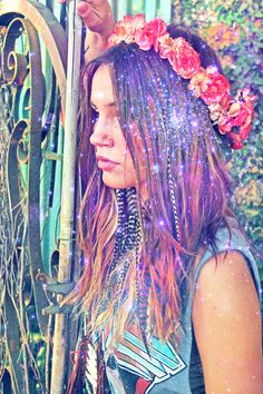 The Feather Junkie Lookbook vs Wild & Free editing --> floral crown here: https://www.etsy.com/listing/102974316/paradise-falls-flower-crown