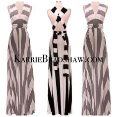 NEW! VERSATILE STRIPED LONG MAXI DRESSPLEASE NOTE THIS ITEM SHIPS MARCH 10thXOXOXOXOXOXO