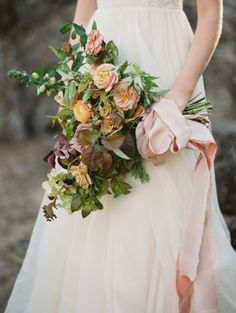 Froufrou Ribbon | Kate Weinstein Photography | see more on: http://burnettsboards.com/2014/12/earth-bride/
