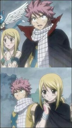 To sweet for words Natsu and Lucy Fairy tail Fairy Tail Love, Fairy Tail Nalu, Lucy Fairy, Fairy Tail Family, Fairy Tail Natsu And Lucy, Fairy Tale Anime, Fairy Tail Couples, Fairy Tail Ships, Fairy Tales