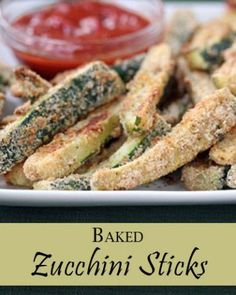 Have a ton of zucchini from your garden or find a great deal on them at the store?  Make these amazing Baked Zucchini Sticks, which are my family's new favorite healthy snack recipe! | 5DollarDinners.com