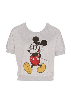 Mickey Cropped Sweater from Peter Alexander