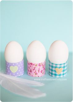 Toilet roll egg holders - by Craft & Creativity