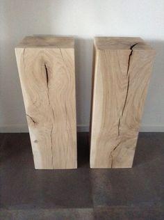 Houten Sokkels/Zuilen