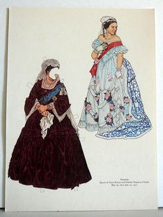 Vintage Uncut Paper Dolls Queen Victoria  of by EvelynnsAlcove, $4.50