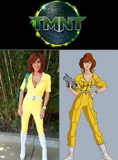 Amazing April O'Neil (TMNT) Cosplay -- figured out my Halloween costume early this year!