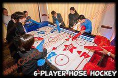 Hose Hockey Game  http://cocktailhourentertainment.com Entertainment Rentals for Bar Mitzvahs, Bat Mitzvahs, and corporate events.   Cocktail Hour Entertainment Inc. 954-612-7431