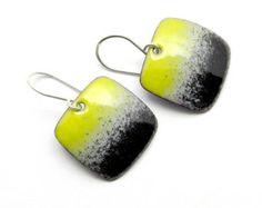 enamel earrings – Etsy FR