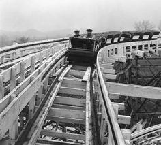 Fontaine Ferry Park roller coaster, Louisville, Kentucky, 1930. :: Caufield & Shook Collection