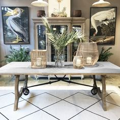 For a little Majorcan flair we have the Mistral dining table. Made from reclaimed Elm timbre with a wrought iron base. Table Furniture, Home Furniture, Artwork For Home, Spanish Style, Dining Table, Dining Rooms, Wrought Iron, Side Chairs, Entryway Tables