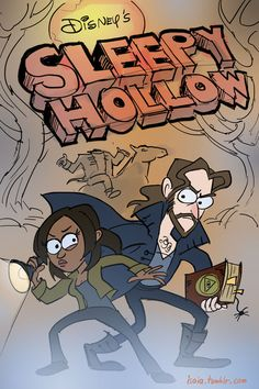 Sleepy Hollow meets Gravity Falls. | 34 Amazing Crossovers You Wish Were Real  these are pretty cool