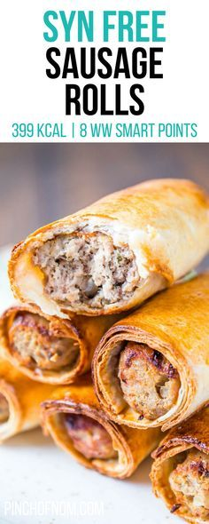 Syn Free Sausage Rolls | Pinch Of Nom Slimming World Recipes   399 kcal | Syn Free | 8 Weight Watchers Smart Points