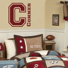 Personalized Baseball Name Decal - Sports Decor Kids Room Teen ...