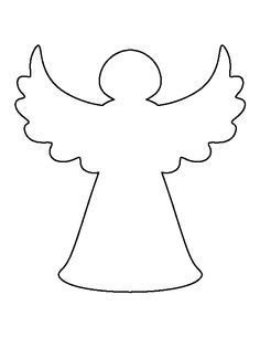 Angel clip art simple angel clipart black and white for Angel tree decoration template