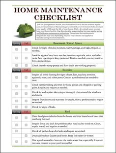 A 4-page checklist to use to keep your home maintained. Avaialbe @ http://www.fcs.uga.edu/extension/healthyhomes#mantained