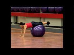 Cvičení na velkém míči - zpevňovačky Gym Equipment, Exercise, How To Plan, Tv, Youtube, Kettlebell, Weights, Ejercicio, Television Set
