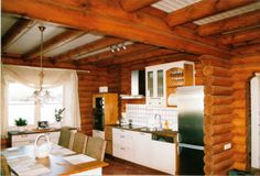 Log Cabin Homes Interior | Log Cabins and Offices - Log Cabin Interiors - Hampshire 168 Log House
