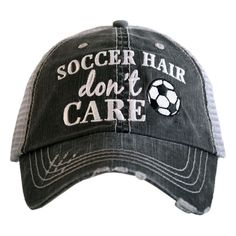 Hat   Trucker Hat   Baseball Hat  Soccer Hair Don t Care Hat Adjustable 2ce0397ecad1