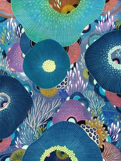 YELLENA JAMES | IMMERSE Yellena James, Embroidery Hoop Crafts, Underwater Art, Watercolor Painting Techniques, Mural Wall Art, Soul Art, Whimsical Art, Textiles, Mandala Design