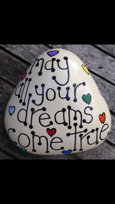 Hope your dreams were nice and that they all come true 🦋🦋🦋❤ NU 😘🦋❤ Stone Art Painting, Pebble Painting, Love Painting, Pebble Art, Rock Painting Patterns, Rock Painting Ideas Easy, Rock Painting Designs, Painted Rocks Craft, Hand Painted Rocks