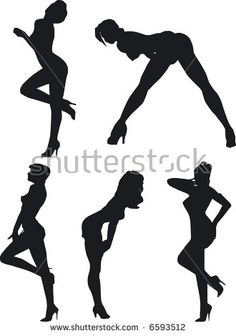 Illustration of sexy woman silhouettes Boudoir Poses, Boudoir Photography, Picture Poses, Photo Poses, Girl Silhouette, Poses References, Sexy Drawings, Posing Guide, Art Poses