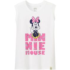 2a0df8cb8267 UNIQLO DISNEY PROJECT Graphic Tank Top (£9.90) ❤ liked on Polyvore featuring  white