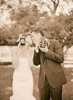 Vintage Cameras as Wedding Props!