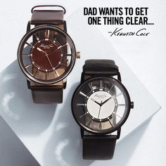 make one (or two) things clear. Transparent Watches - Kenneth Cole