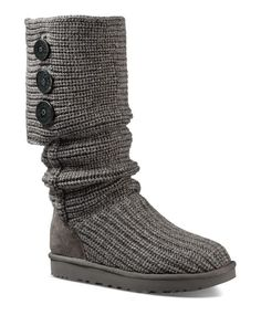 Like snuggling up in your favorite cardigan, Ugg's nubby knit boots will keep your toes warm whether you're lounging fireside or braving the chilly outdoors. | Textile and leather upper, textile and g